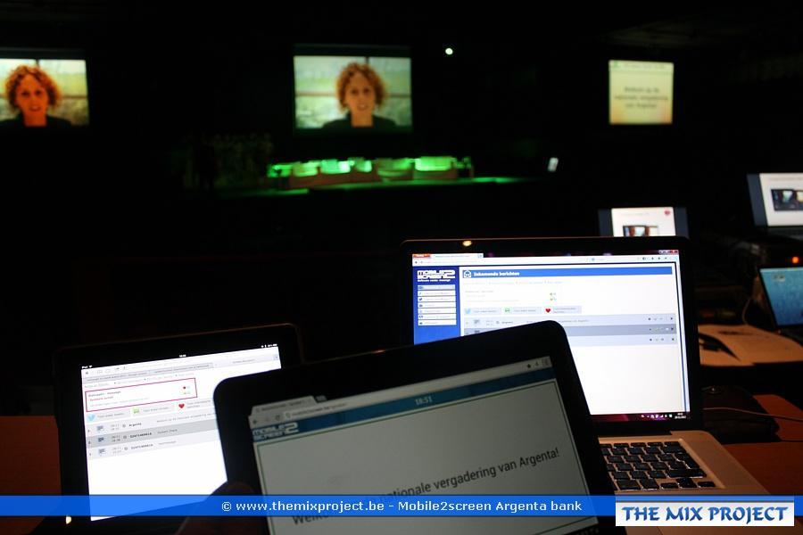 Foto's Argenta bank - interactief SMS systeem voor toespraken te Zuiderkroon Antwerpen