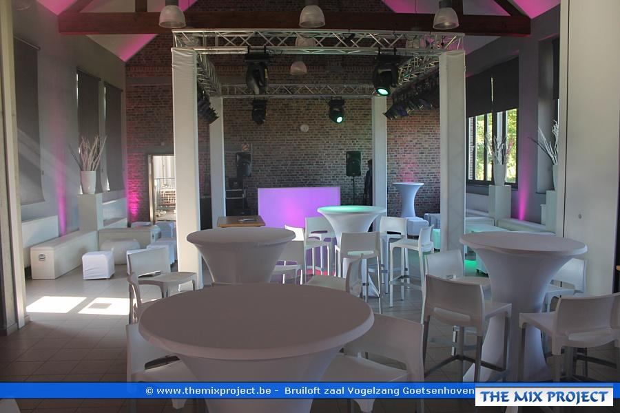 Foto´s Lounge trouwfeest te Ontmoetingscentrum De Koepel- Goetsenhoven (Tienen)