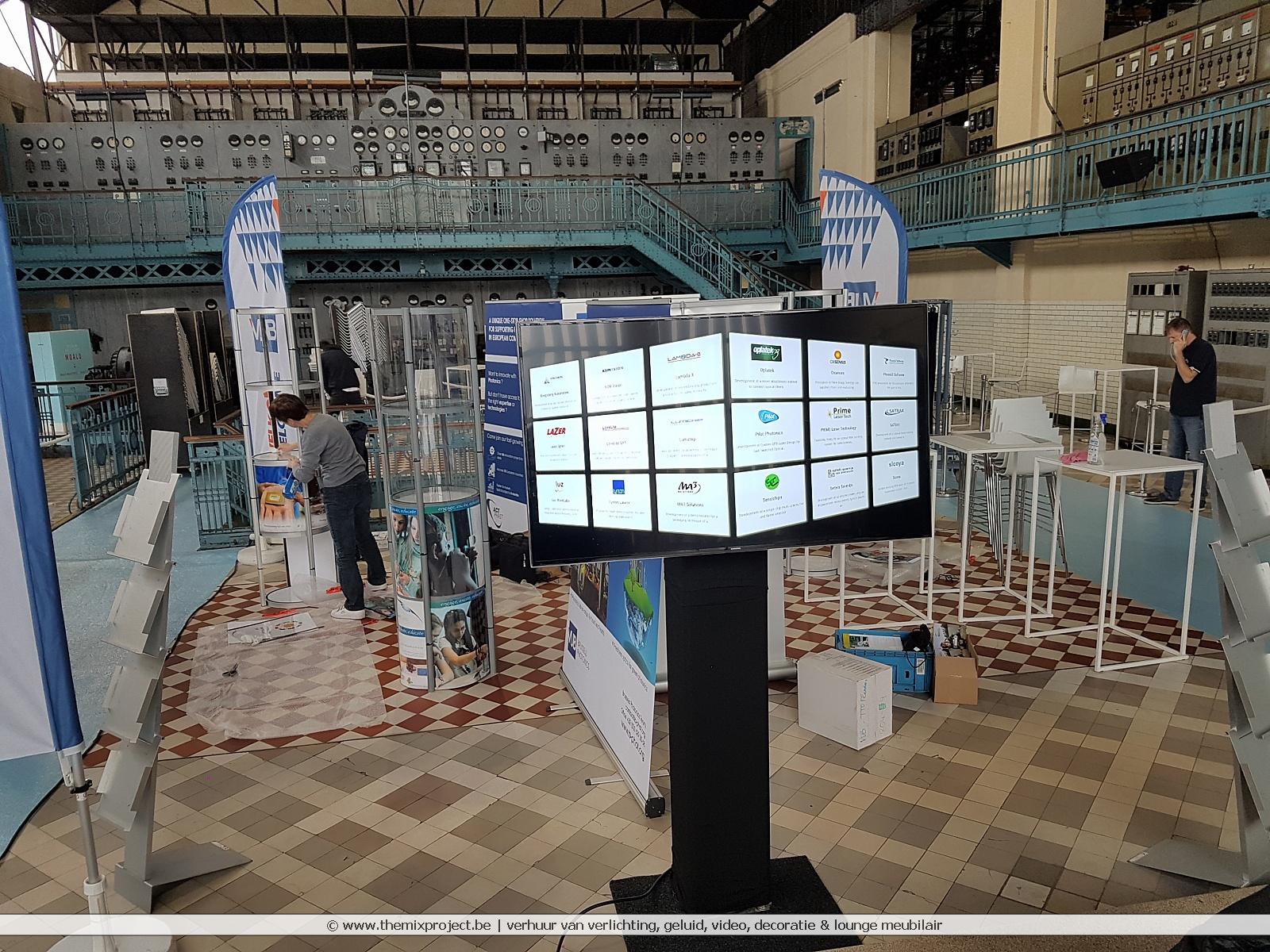 Foto's Verhuur TV schermen voor Innovatiebeurs te C-mine Genk